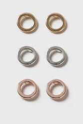 Topshop Circle Stud Earring Pack Mixed Metal