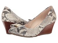 Cole Haan Tali Grand Bow Wedge 65 Roccia Snake Print Women's Wedge Shoes Animal Print