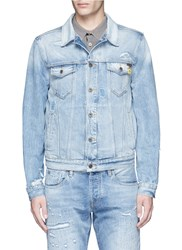 Scotch And Soda Denim Trucker Jacket Blue