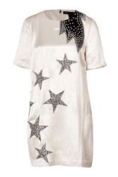 Marc By Marc Jacobs Satin Stud Embellished Stars Shift