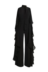 Elie Saab Butterfly Jumpsuit Black