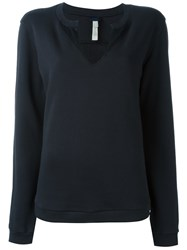 Diesel Split Neck Sweatshirt Black
