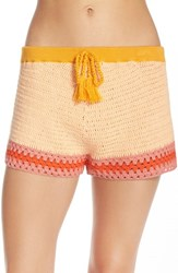 Minkpink Women's 'Sun's Out' Crochet Cover Up Shorts