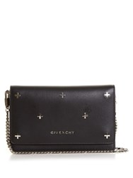Givenchy Cross Embellished Leather Cross Body Bag Black