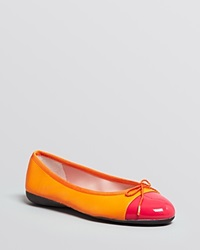 Paul Mayer Cap Toe Ballet Flats Bravo Fuchsia Orange