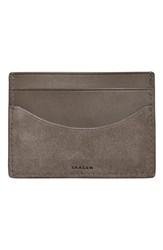 Men's Skagen 'Torben' Leather Card Case Grey Heather Grey