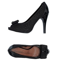 Gaudi' Pumps With Open Toe Dark Brown