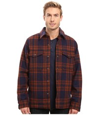 Filson Mackinaw Jac Shirt Navy Cop Brown Men's Clothing