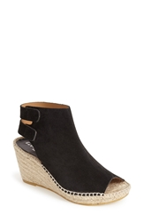 Bettye Muller 'Download' Suede Wedge Espadrille Sandal Women Black Suede