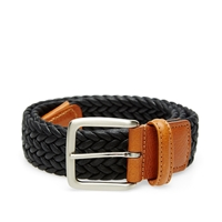 Andersons Anderson's Waxed Canvas Woven Belt Black
