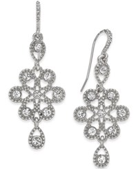Charter Club Gold Tone Snowflake Inspired Crystal Drop Earrings Only At Macy's Silver