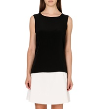 Reiss Kali Silk Front Sleeveless Top Black