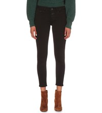 Closed Baker Cropped Skinny Mid Rise Jeans Black