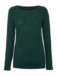 Therapy Rib Detail Cable Jumper Green