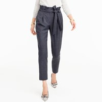 J.Crew Wool Flannel Pant With Paper Bag Waist