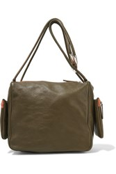 M Missoni Leather Shoulder Bag Jade