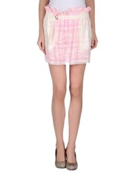 M.Grifoni Denim Mini Skirts Ivory