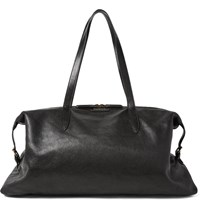 Dries Van Noten Full Grain Leather Holdall Black