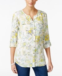 Jm Collection Floral Print Shirt Only At Macy's Plume