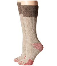 Carhartt Merino Wool Blend Textured Crew Socks 2 Pair Pack Khaki Women's Crew Cut Socks Shoes
