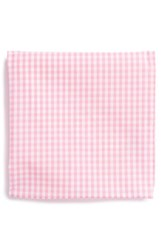 Men's The Tie Bar Cotton Gingham Pocket Square Pink Online Only