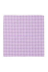 14Th And Union Gingham Pocket Square Purple
