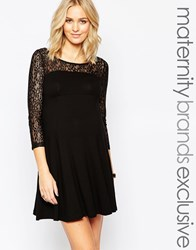 Isabella Oliver Lace Skater Dress Black