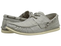 John Varvatos Schooner Boat Shoe Shale Grey Men's Slip On Shoes Gray
