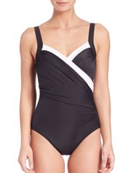 Miraclesuit Swim One Piece Two Tone Sanibel Swimsuit