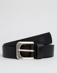 G Star Leather Belt In Black Black