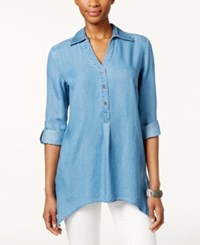 Styleandco. Style And Co. High Low Hem Denim Tunic Only At Macy's