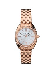 Links Of London Bloomsbury Rose Gold And Crystal Watch