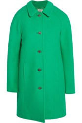 Paul And Joe Esonja Crystal Embellished Wool Blend Coat Green