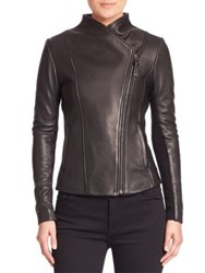 Mackage Cleo Leather Moto Jacket Black