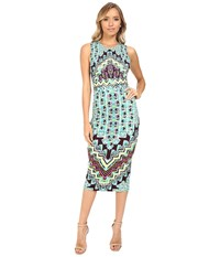 Mara Hoffman Rug Ponte Midi Dress Turquoise Women's Dress Blue