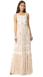 Needle And Thread Embellished Bib Gown Petal Pink