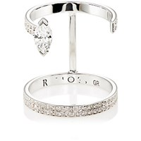 Repossi Women's Serti Sur Vide Double Band Ring Silver