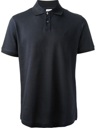 Brioni Short Sleeved Polo Shirt Blue