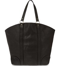 Guidi Horse Leather Tote Blkt