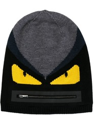 Fendi Bag Bugs Beanie Black