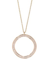 Stardust 18K Gold Diamond Wavy Open Disc Necklace Ippolita Red