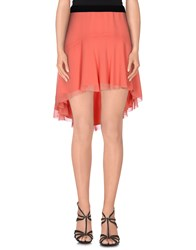 Space Style Concept Skirts Mini Skirts Women Orange