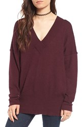 Women's Bp. Dolman Knit Tunic Burgundy Stem
