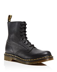 Dr. Martens Pascal Leather Combat Booties Black