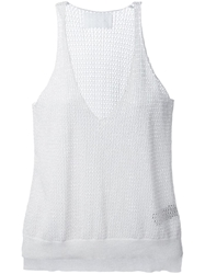 Zadig And Voltaire Metallic Knit Tank Top