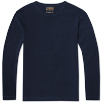 Beams Plus Long Sleeve Twisted Yarn Tee Navy