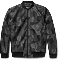 Christopher Kane Jacquard Bomber Jacket Gray