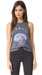 Spiritual Gangster Moon Dream Muscle Tank Vintage Black