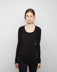 Rick Owens Extra Long Sleeve Tee Black