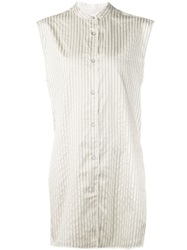 Rag And Bone Rag And Bone Sleeveless Striped Shirt Nude And Neutrals
